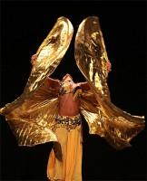 Крылья для танца живота, золотые