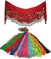 Пояса для танца живота с монистами 5-ти рядные