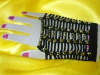 Перчатки со стразами №5