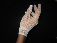 Перчатки сетка, белые