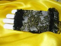 Перчатки со стразами №1