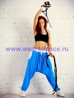 Одежда для хип хоп (синий / белый)