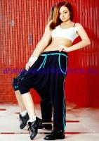 Одежда для хип хоп (черный/ голубой)