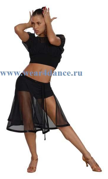 Юбка для танцев латина тренировочные