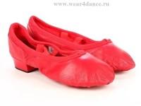 Балетки на каблуке